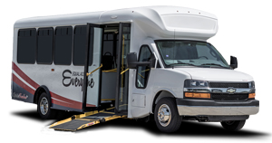 assisted living low floor ramp shuttle bus