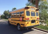 Corbeil Type A Used School Bus - Driver Rear View -16U012S
