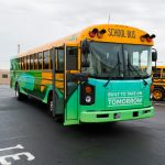 Blue Bird Adomani Electric School Bus Ride and Drive Event Photo in Bellflower California