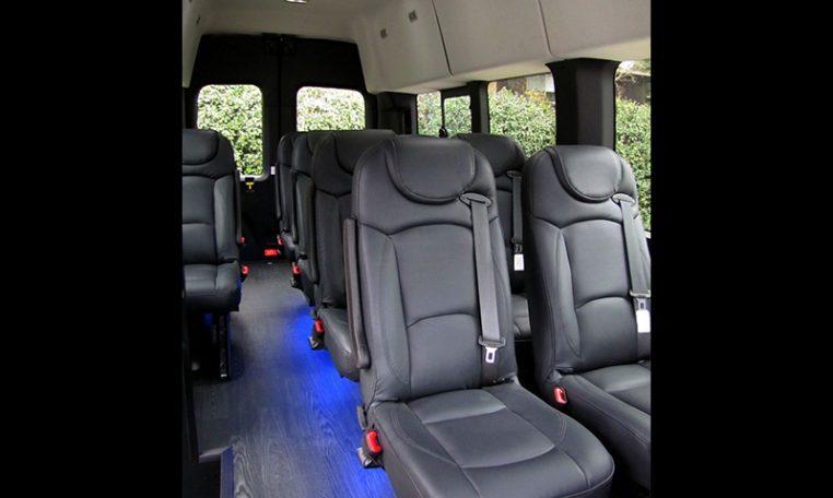 NorCal Van Executive Shuttle - Interior passenger Cabin Seats View - 16C031
