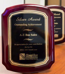 Glaval_A-Z-Bus-Sales-Silver-Award