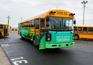 Blue Bird Adomani Electric School Bus Ride and Drive Event Photo in Bellflower California