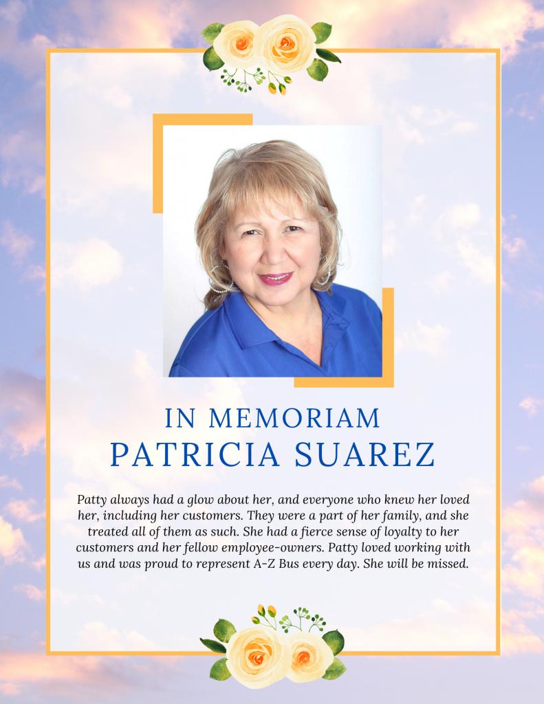 Patricia Suarez Memorial Poster